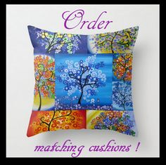 Cushion cover pillow pillows covers case cases tree of by SheerJoy