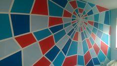 Toffe #muurschildering voor de #Spiderman #kinderkamer
