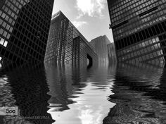 Toronto Ontario Canada, Downtown Toronto, Water Reflections, More Photos, Contrast, Core, Iphone, Abstract, Shop