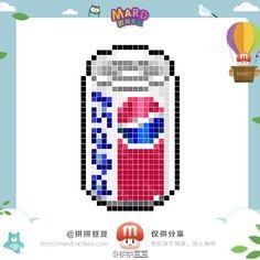 Pepsi Perler Bead Pattern