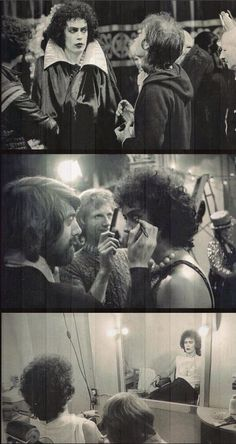 Tim Curry, behind the scenes of Rocky Horror Picture Show Tim Curry Rocky Horror, Rocky Horror Show, The Rocky Horror Picture Show, Rocky Pictures, The Frankenstein, Time Warp, Film Movie, Classic Hollywood, Good Movies