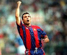 Stoichkov Fc Barcelona, Football Stickers, Football Hall Of Fame, Best Player, Dream Team, Coaching, Champion, Men, Sport
