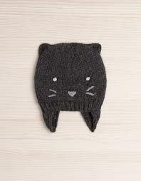 little kitty hat with earflaps