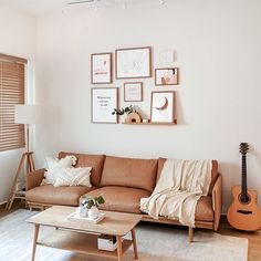 With no carpentry, swipe right to see how we styled this blank canvas into a minimalistic zen space that our clients' call home 😍  .   We curated every single detail from  the furniture, to soft furnishing and even wall decor