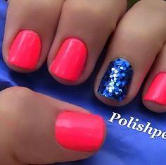 Hot pink nail designs