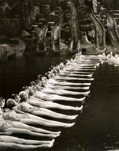 "The ""By a Waterfall"" musical number in Footlight Parade (1933). Choreographed by Busby Berkeley."