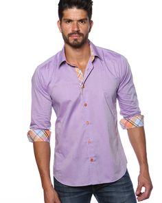Jared lang shirt - Purple designer shirt for men