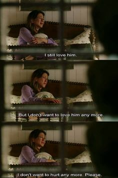 Bruce Almighty. Not a serious love story, but this is such a sad scene | and shows the true feelings you go through after a breakup!