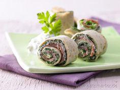 Wirsing-Crêpe-Röllchen - smarter - mit Parmaschinken. Kalorien: 365 Kcal | Zeit: 25 min. #snack