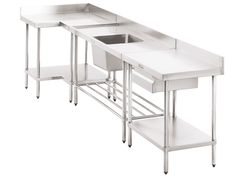 Flatpack Stainless Steel - Stainless Steel Benches, Turbo Air Commercial Refrigeration, Stainless Steel Sinks, Stainless Steel Shelves and Stainless Steel Cabinets. Stainless Steel Fabrication, Stainless Steel Cabinets, Shelving, Work Benches, House, Furniture, Kitchens, Commercial, Drawings