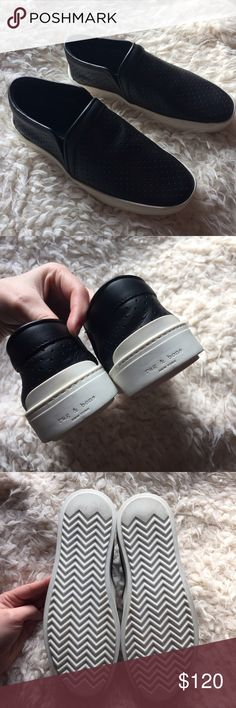 Rag and Bone Leather Sneakers Worn once, just a bit too small for me! rag & bone Shoes Sneakers