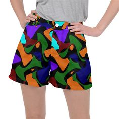 Trippy paint splash, asymmetric dotted camo in saturated colors Ripstop Shorts Paint Splash, Saturated Color, Trippy, Creative Design, Camo, Shorts, Colors, Womens Fashion, Fabric