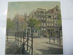 Aquarel van Amsterdam.