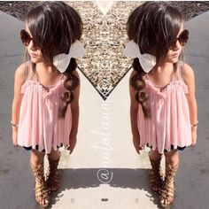 The flattering blush color looks great against any skin tone, and can make any #little girl feel like a princess. #girlsclothing moderenchild.com
