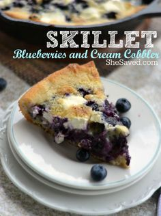 This skilled blueberries and cream cobbler makes for a wonderful and easy dessert, especially when topped with ice cream!