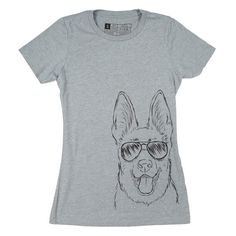 Women's Aviator Shades Shepherd T-Shirt  Small Medium by Inkopious