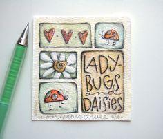 elvie studio: ladybugs and daisies