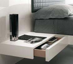Futuristic Bedroom Set With Suspended Bed – Aladino Up from Alf: Alf Group is one of popular Italian companies which produce modern furniture for home design. It has a wide range of furniture for stylish bedrooms and living rooms. Its collection Aladino Up consists of glossy white furniture for bedroom which is very fashionable nowadays. This collection reflects the latest trends in contemporary bedroom design and looks even minimalist. It seems that this bed is suspended and hasn&#8217...