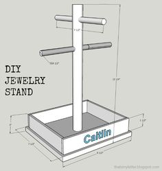 """That's My Letter: """"J"""" is for Jewelry Stand Plans"""