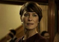 Robin Wright as Claire Underwood in Season 3 House of Cards with Brunette Hair