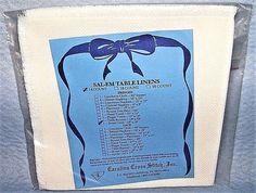 """SAL-EM Bread Cover Cross Stitch 14 Count White Aida Fabric 18"""" x 18"""" Carolina #CarolinaCrossStitch"""