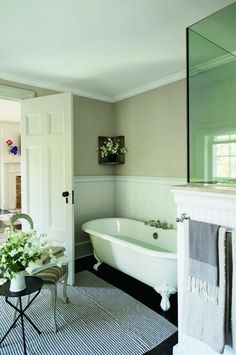 Contemporary Bathroom by Rebecca Bond in Bridgehampton, New York