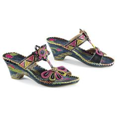 $49.99 Jamaica Blue Step In Shoes - Women's Clothing & Symbolic Jewelry – Sexy, Fantasy, Romantic Fashions