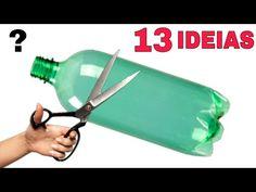 Pin on Letras Reuse Plastic Bottles, Plastic Bottle Crafts, Glass Bottles, Plastic Bag Crafts, Recycle Cans, Bottle Garden, Garden Pots, Quilling Paper Craft, Handmade Lamps