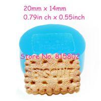Freies Verschiffen QYL143U Biskuitform Rechteckig Cookie 20mm Silikonform Decoden Kawaii Miniatur Süßigkeiten Form Cabochon Charme