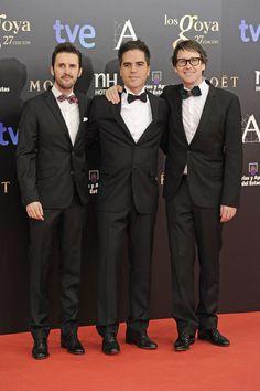 Todas las imágenes de alfombra roja y celebrities de los Premios Goya 2013: Julián López, Ernesto Sevilla y Joaquín Reyes