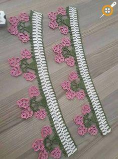 This Pin was discovered by HUZ Crochet Art, Filet Crochet, Crochet Motif, Irish Crochet, Crochet Doilies, Crochet Flowers, Crochet Edging Patterns, Crochet Borders, Crochet Designs