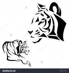 38 Best Tiger Tattoo Outlines Images In 2017 Tattoo Outline
