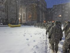 "Cadets moving for Formation Jan Gives meaning to ""Gray Period"", while the rest of the country is digging out! Hoosiers got last evening. United States Military Academy, Interior And Exterior, Period, Rest, Army, Football, History, Country, Architecture"