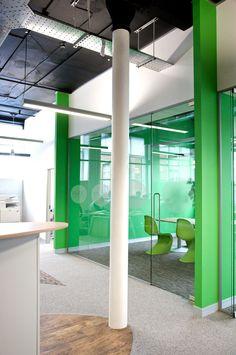 Frameless glass partitions Glass Office Partitions, Glass Partition, Corporate Interiors, Office Interiors, Interior Work, Interior Design, Office Workspace, Office Spaces, Work Office Design