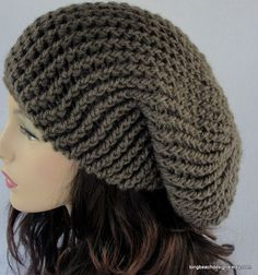 Crochet slouch hat pattern by LongBeachDesigns on Etsy.