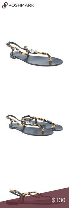 Giuseppe Zanotti Pony Hair Sandals (143920) •Designer: Giuseppe Zanotti •Overall Condition: New without tags •Exterior Condition: New •Interior Condition: New •Type: Sandals •Material: Pony Hair •Origin: Italy •Color: Multi-Color •Hardware: Rhinestone  •Size System: US •Weight: 1 lbs •Size: 8 •Heel Height: Flat (0 - 1/2 in) •Insole: 10 •Sole Width: 3 •Full Height: N/A •Circumference: N/A •Production Code: NA •Overall Condition Description: These Giuseppe Zanotti sandals are New without tags…