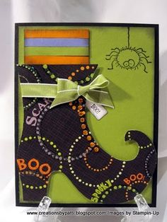 Witch Shoe Card