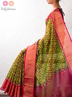 Handwoven Cotton Silk Pochampally Saree – HolyWeaves