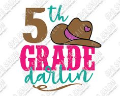 5th Grade Darlin Cut File Set in SVG, EPS, DXF, JPEG, and PNG
