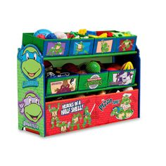 Delta Deluxe 9-Bin Toy Organizer - Teenage Mutant Ninja Turtles #Delta