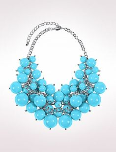 Beaded Statement Necklace | Dressbarn - Tourquoise