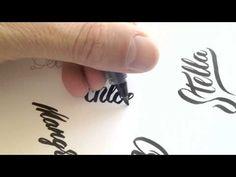 Brush Pen Lettering - YouTube