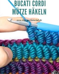 Bucati Cordi Mütze Häkeln – Knitting And Crochet Crochet Simple, Crochet Diy, Crochet Crafts, Crochet Projects, Diy Crafts, Crochet Cord, Crochet Needles, Unique Crochet, Beautiful Crochet