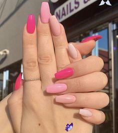 #cute nail #secret garden #diy dog #dip powder nail #diy projects #garden hacks #garden wallpaper #summer nail<br> Simple Acrylic Nails, Best Acrylic Nails, Acrylic Nail Designs For Summer, Acrylic Art, Nail Ideas For Summer, Cute Summer Nails, Acrylic Nails Designs Short, Pink Summer Nails, Neon Pink Nails