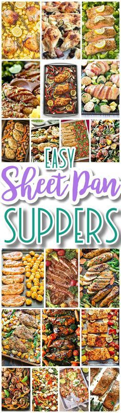 The BEST Sheet Pan Suppers Recipes – Easy and Quick Baked Family Lunch and Simple Dinner Meal Ideas using only ONE Baking Sheet PAN! The BEST Sheet Pan Suppers Recipes – Easy and Quick Baked Family Lunch and Simple Dinner Meal Ideas using only […] lunch Supper Recipes, Easy Dinner Recipes, Quick Recipes, Healthy Recipes, Easy Meal Ideas, Supper Meals, Easy Meal Plans, Cheap Recipes, Bariatric Recipes