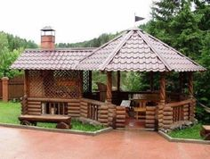 Pergola For Small Patio Backyard Gazebo, Garden Gazebo, Backyard Patio Designs, Pergola Patio, Backyard Landscaping, Pergola Ideas, Outdoor Rooms, Outdoor Living, Garden Sink