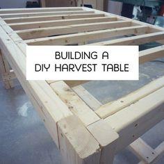 Save money and DIY your own farmhouse harvest table.
