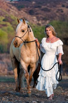 This alternative bridal line is an excellent choice for the bride who wants to be truly unique. The designs are not too formal and can easily be worn and enjoye Cowgirl Wedding, Cowgirl Chic, Western Chic, Cowgirl Style, Cowgirl Fashion, Horse Wedding, Gypsy Cowgirl, Country Western Dresses, Western Wedding Dresses