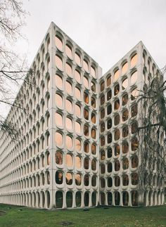 New brutalism: Constantin Brodzki�s Brussels HQ is up for renovation by Fosbury & Sons | For Fosbury & Sons� founders Stijn Geeraets and Maarten Van Gool, the initial impetus to take on the modernist office building, with its characteristic fa�ade of curv