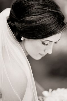 Where to place your veil with an updo.